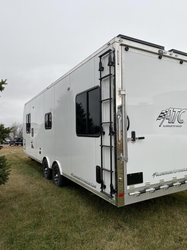 2020 Aluminum Trailer Company 28 front bedroom Toy Hauler RV