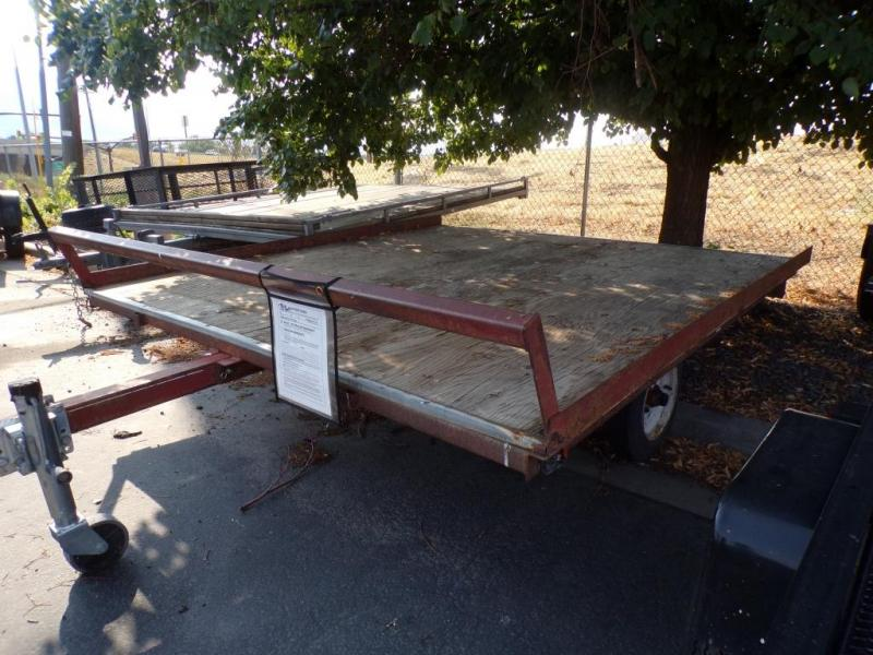 1990 Young Used Flatbed Trailer