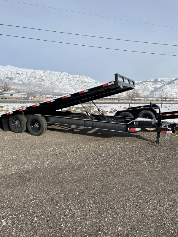 2021 H and H 22' Flatbed  Trailer
