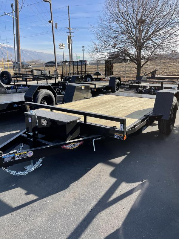 2021 H and H 12' Flatbed Trailer