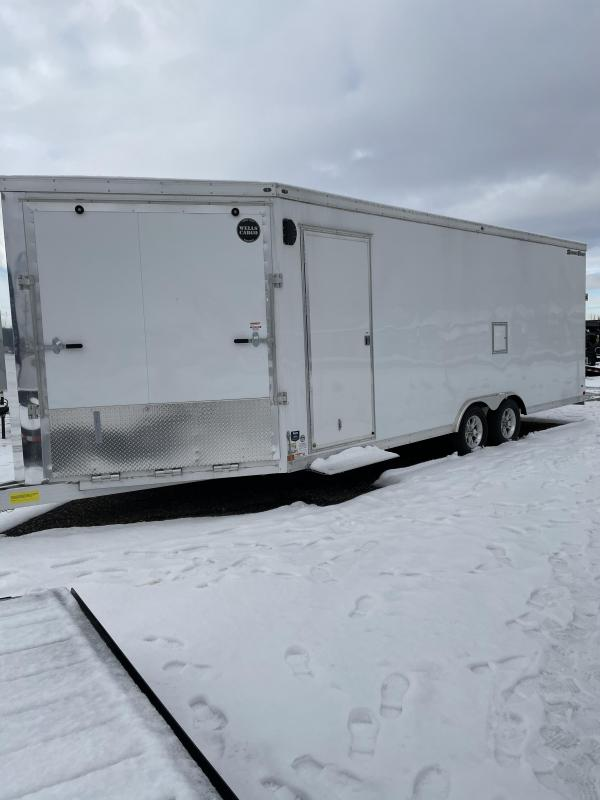2020 Wells Cargo 28 Ft Enclosed Snowmobile Trailer ON SALE!!!