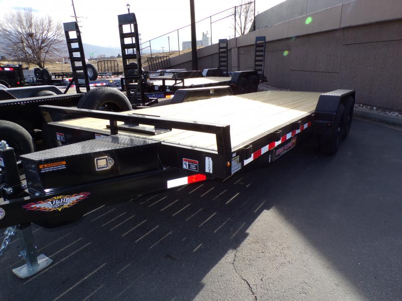 2021 H & H  20' Flatbed Car Hauler Trailer