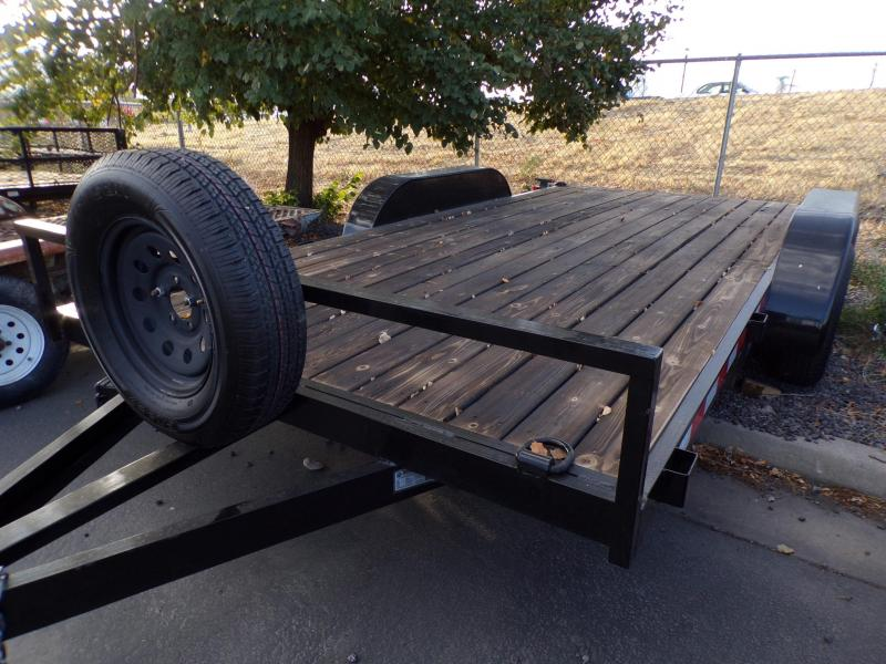 2020 14 Black Out Flatbed Trailer