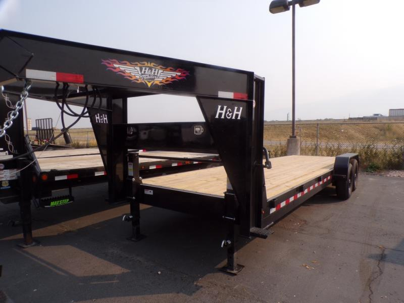 2021 H & H Gooseneck 24' Flatbed Trailer ON SPECIAL