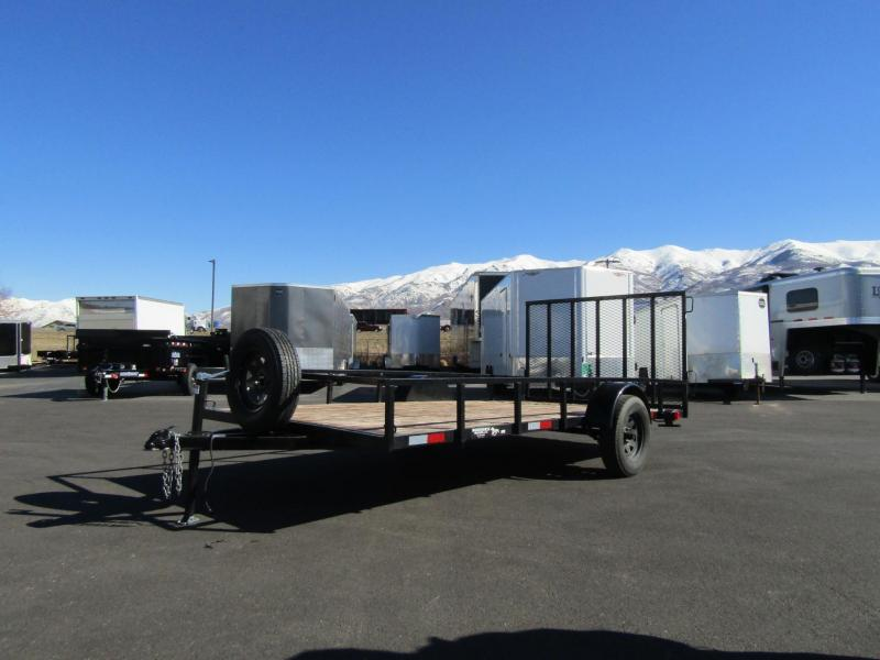 2018 USED 14' Flatbed Trailer