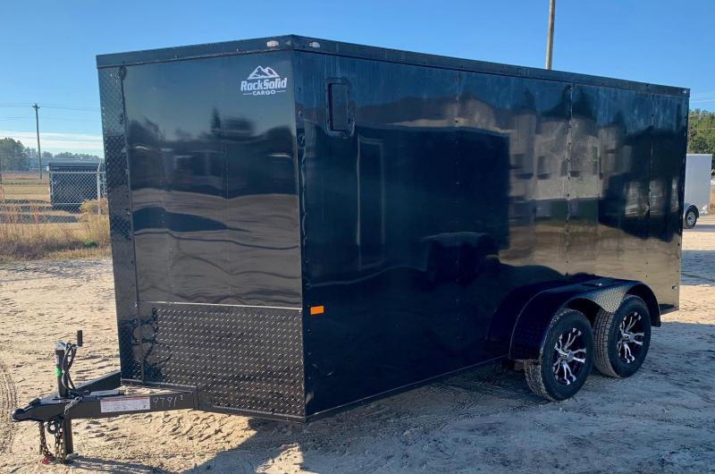 2021 Rock Solid 7X16 TA Enclosed Cargo Trailer / Blackout Edition
