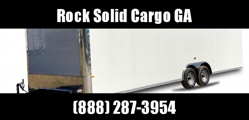 2021 Rock Solid Cargo 8.5 x28 TA Enclosed Cargo Trailer / Flat Front