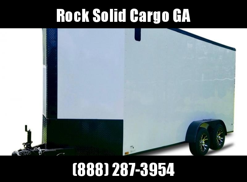 2021 Rock Solid Cargo 7 x 16 TA Enclosed Cargo Trailer / Blackout Special