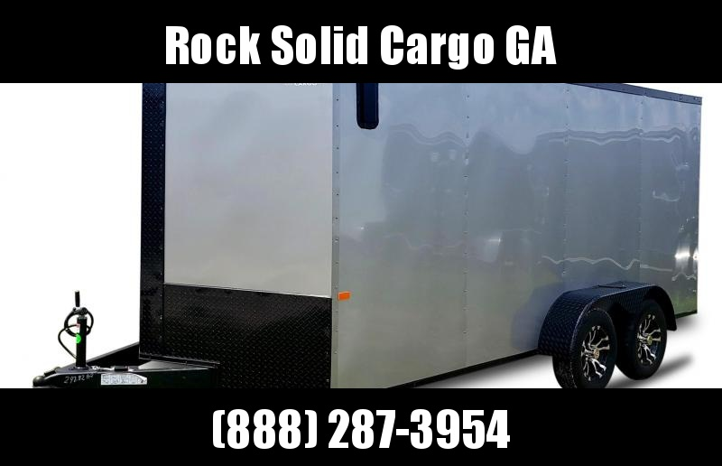 2021 Rock Solid Cargo 7 x 16 TA Enclosed Cargo Trailer / Special Blackout Package