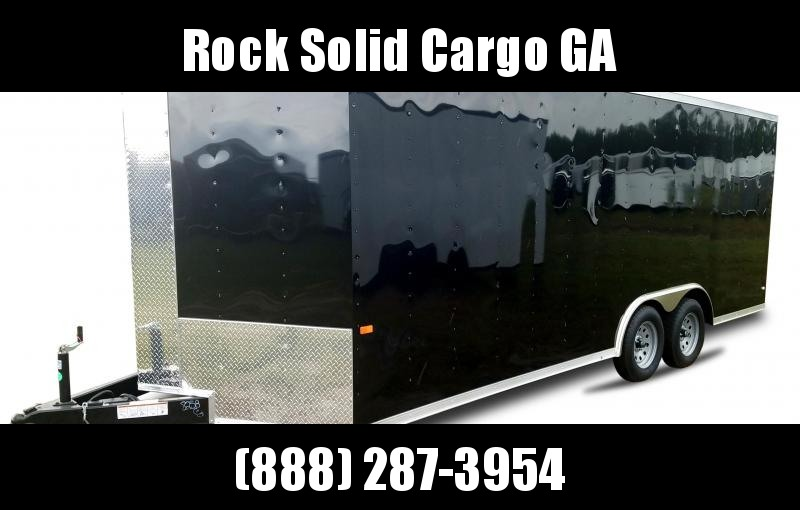2021 Rock Solid Cargo 8.5 x 20 TA Enclosed Cargo Trailer / 5200 lb. Axles