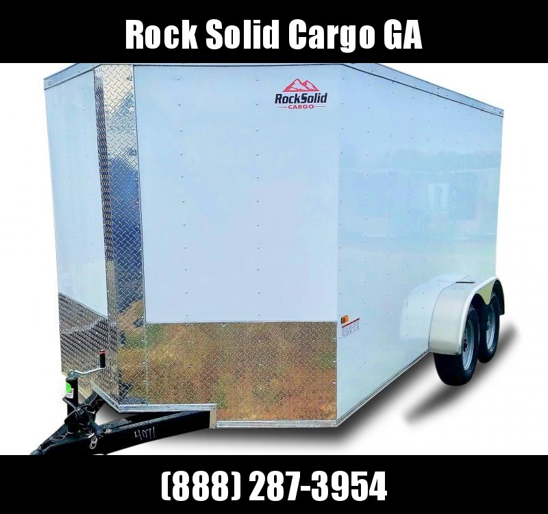 2021 Rock Solid Cargo 7 x 12 TA Enclosed Cargo Trailer