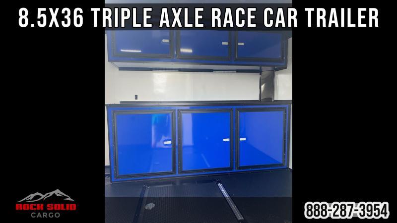 2022 Rock Solid Cargo 8.5X36 Triple Axle Enclosed Cargo Trailer / Race Car / Racing Trailer