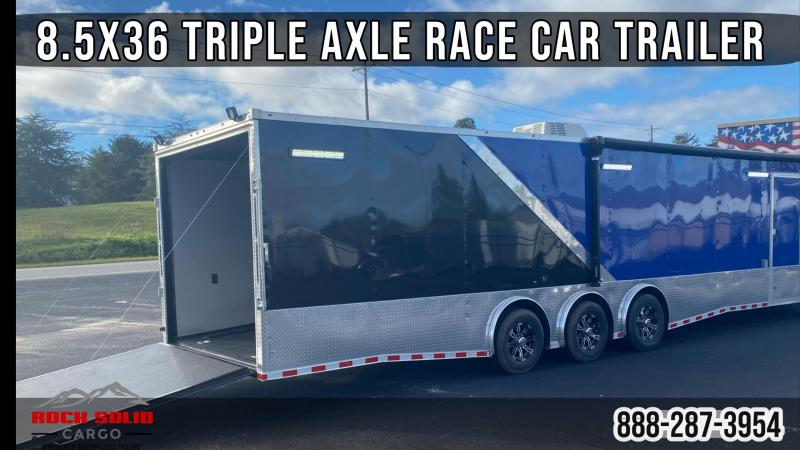 2021 Rock Solid Cargo 8.5X36 Triple Axle Enclosed Cargo Trailer / Race Car / Racing Trailer
