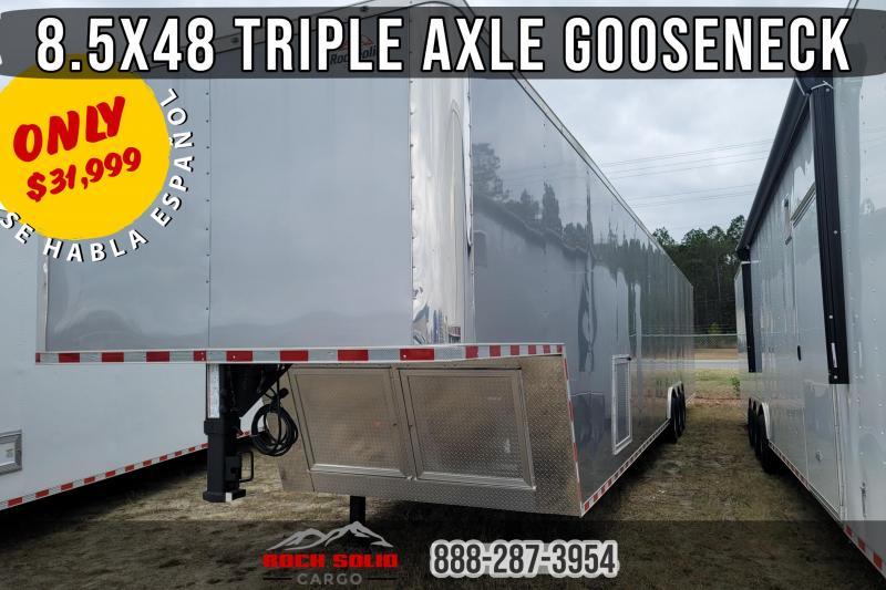 2021 Rock Solid Cargo 8.5x48 Gooseneck Enclosed Cargo Trailer