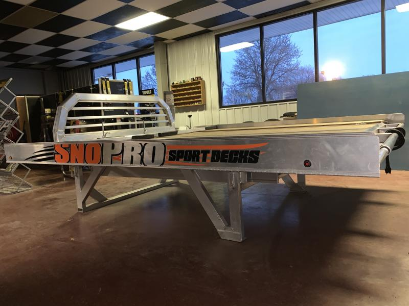 2018 SNOPRO 8.5' X 8' OPEN SNOWMOBILE TRAILER