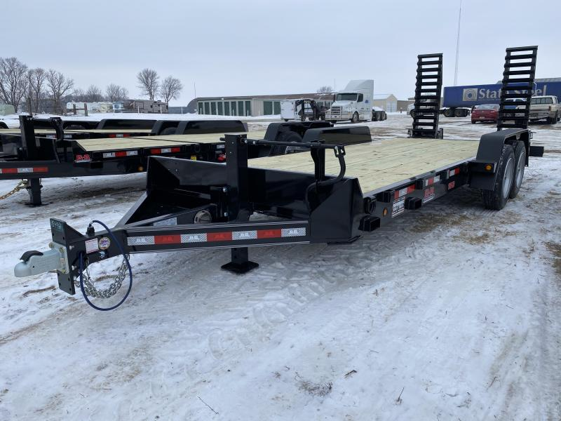2021 Behnke 20' Skid Loader Equipment Trailer