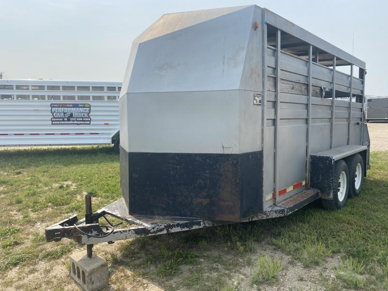 1985 Hillsboro Industries 7 X 15 Livestock Trailer