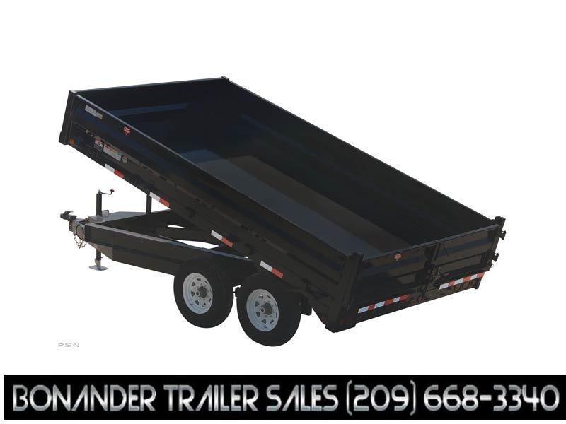 2021 PJ Trailers 16X96 Deckover Dump (D8) Dump Trailer