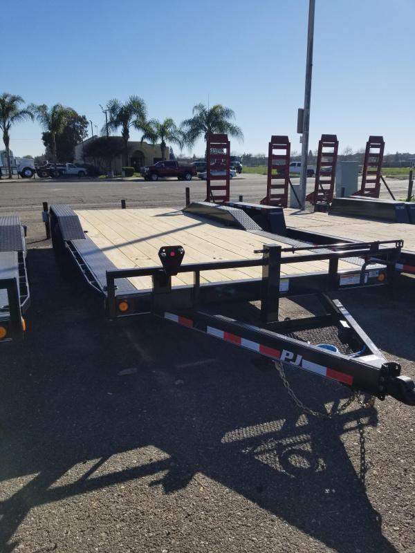 2021 PJ Trailers B6-20 Channel Super-Wide Equipment Trailer