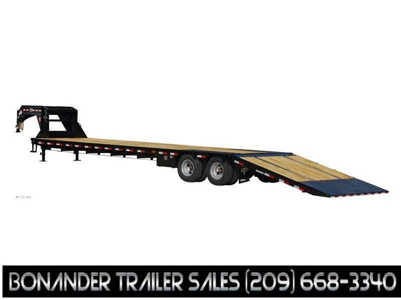 2021 PJ Trailers Low-Pro with Hydraulic Dove (LY) Flatbed Trailer