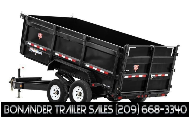 "2022 PJ Trailers 83"" x 16' 83"" Low-Pro High Side Dump (DM) Dump Trailer"