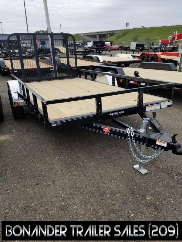 2021 PJ Trailers U7-12 Sngl Axle Channel Utility Trailer
