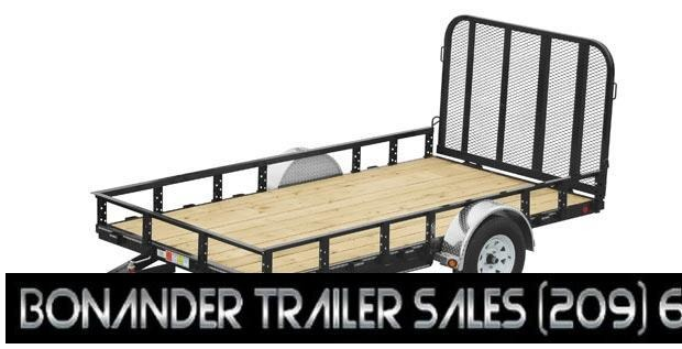 2021 PJ Trailers 12X77 Single Axle Channel Utility (U7) Utility Trailer