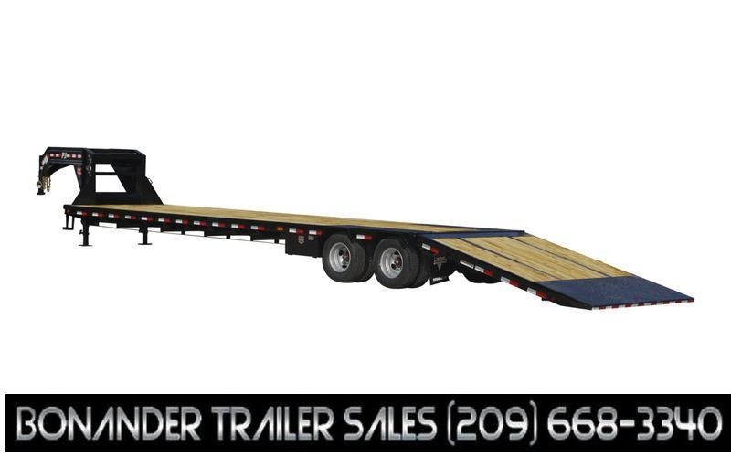 """2022 PJ Trailers 102"""" x 36' Low-Pro With Hydraulic Dove (LY) Flatbed Trailer"""