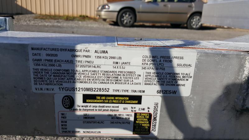 2021 Aluma 6812 ES-W Utility Trailer