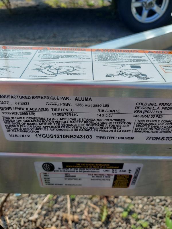 2022 Aluma 7712H-S-TG Utility Trailer