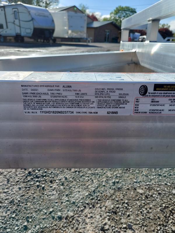 2022 Aluma 8218WB-TA-EL-R-RTD Utility Trailer