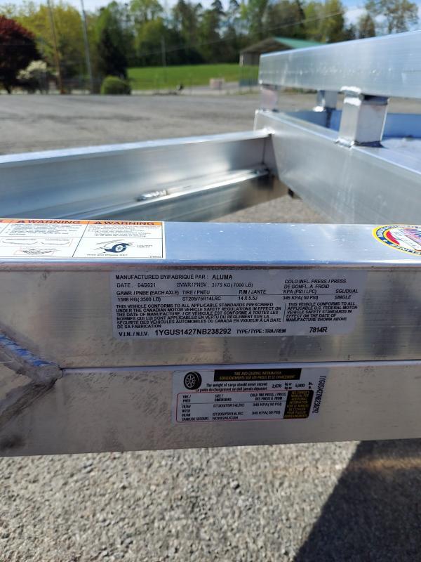 2022 Aluma 7814TA-EL-R-TR-RTD Utility Trailer