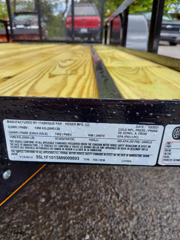 2021 Reiser Trailers L510SA Utility Trailer