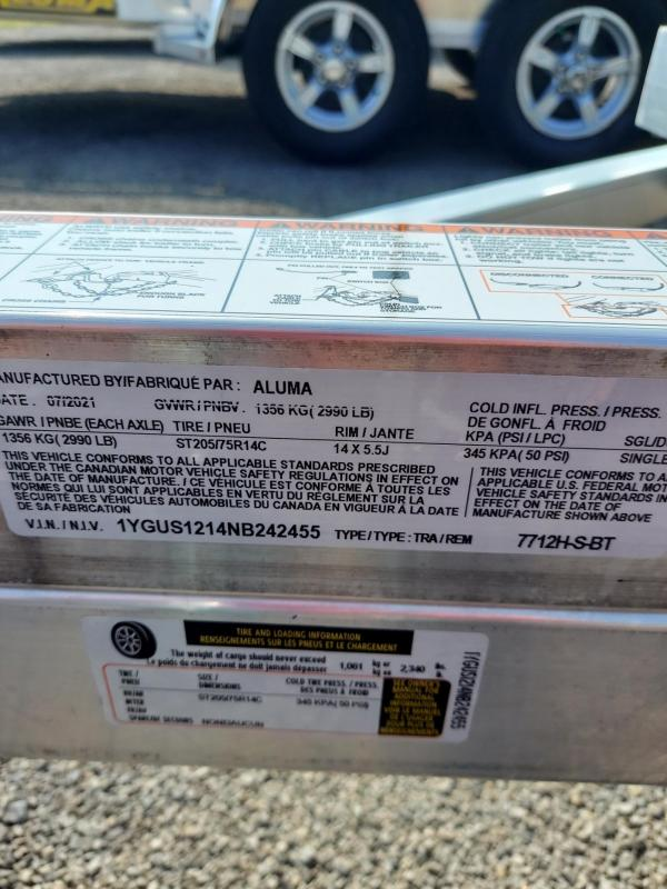 2022 Aluma 7712H-S-BT Utility Trailer