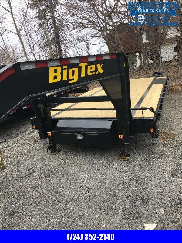 2019 Big Tex 14GN 20+5 Single Wheel Tandem Axle Equipment Trailer