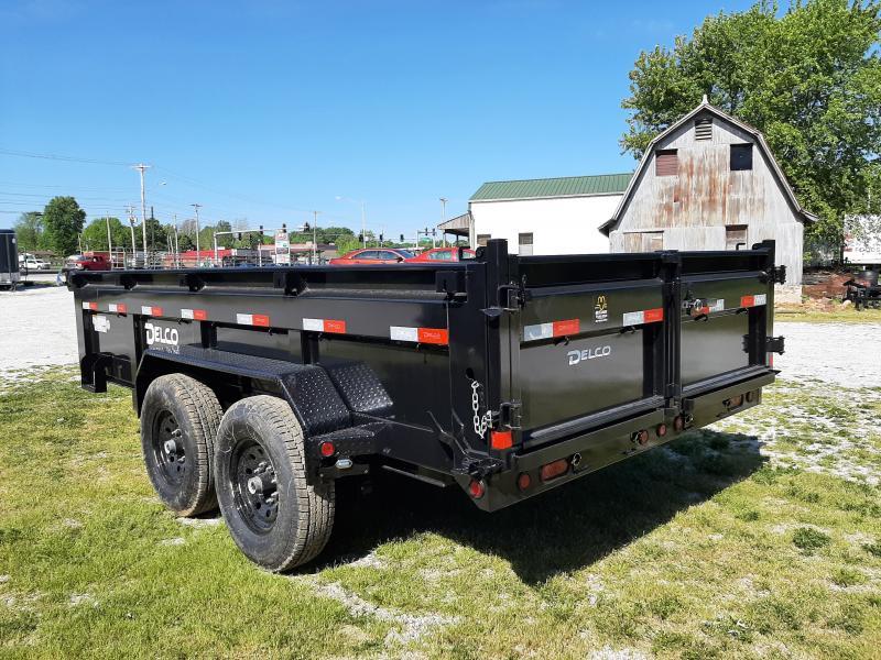 Delco 83 x 14' 14000# Bumper Pull Dump Trailer