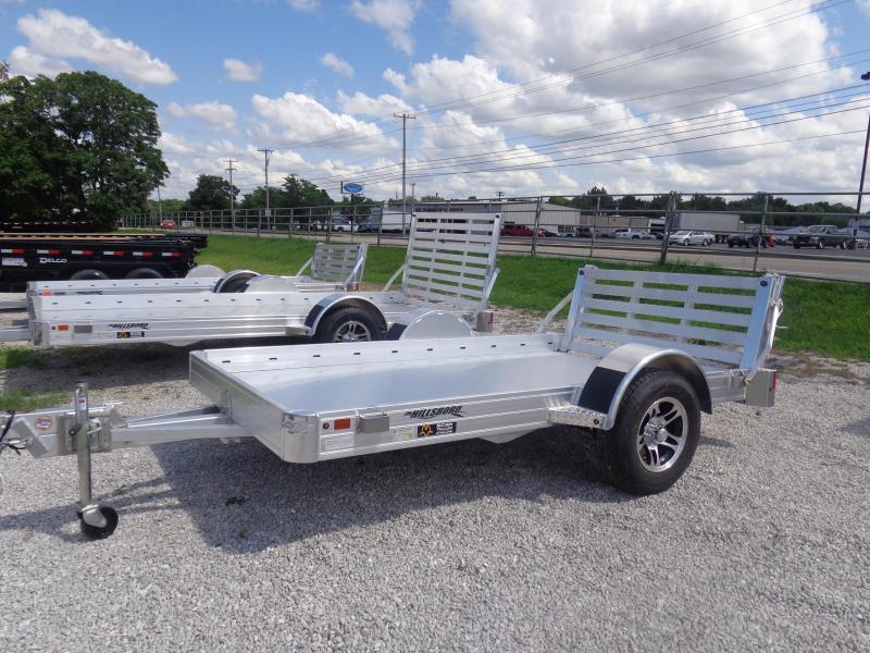 Hillsboro 70 x 10 Bumper Pull Aluminum Utility Trailer
