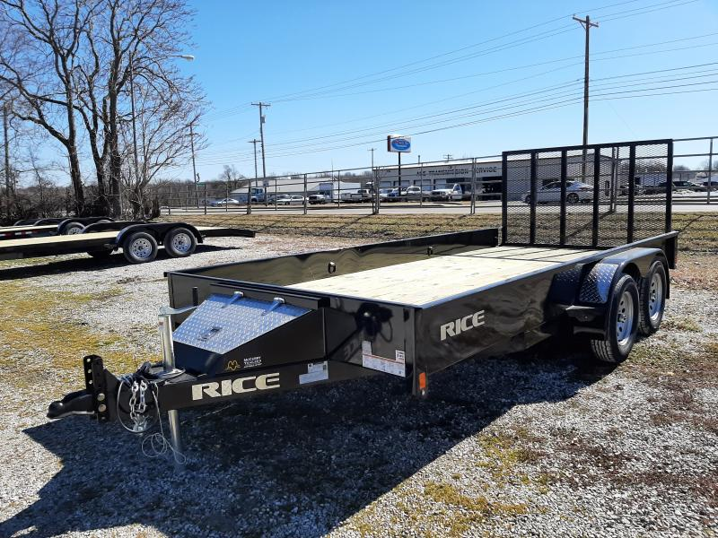 Rice 82 x 16' Tandem Stealth Bumper Pull Black Utility Trailer