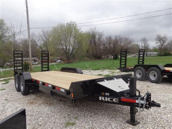 Rice 82 x 20'+2' 14000# Bumper Pull Heavy Duty Flatbed Trailer