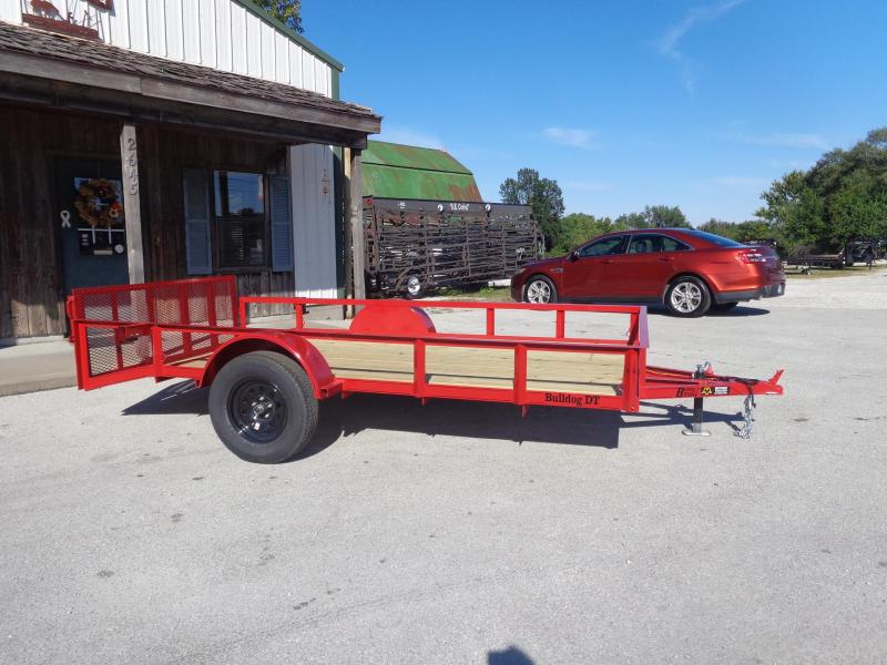 Bulldog 76 x 10'+2' Dovetail Red Utility Trailer