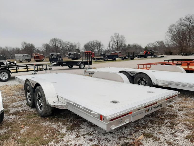 Hillsboro 18' x 6'10 Aluminum Bumper Pull Car Hauler Flatbed Trailer
