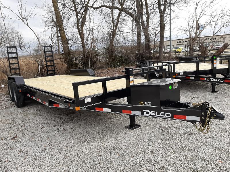 """Delco 83"""" x 20'+2' Bumper Pull 14000# Flatbed"""