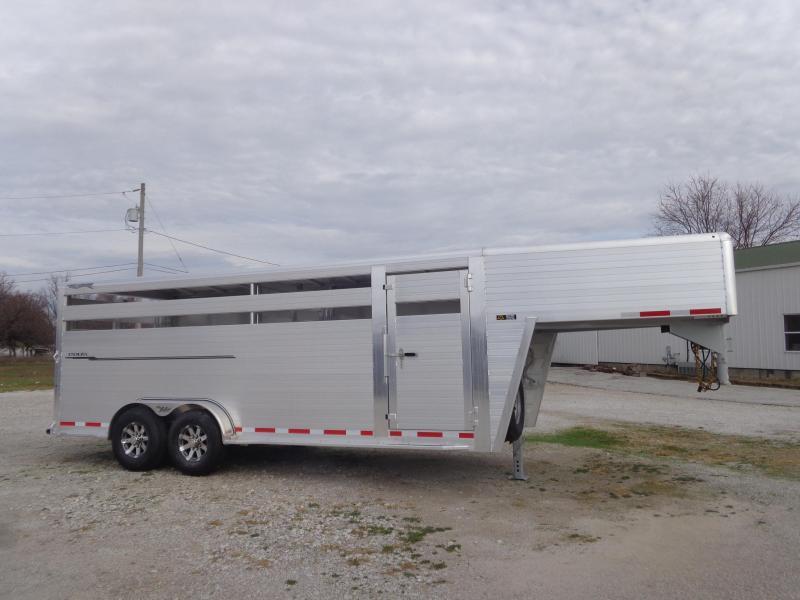 2022 Hillsboro 22' x 7' Endura Aluminum Gooseneck Livestock Trailer