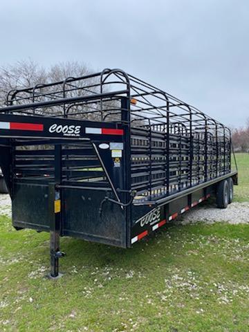 USED 2012 Coose 24x6814K Livestock Trailer