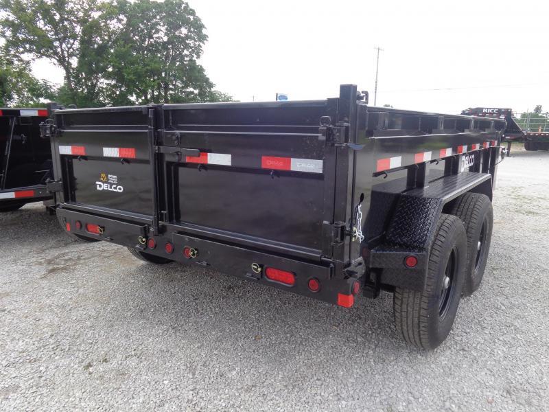 """Delco 83""""x12' Low-Pro 14000# Bumper Pull Dump Trailer"""