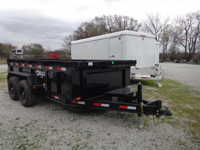 """Delco 72""""x12' Low-Pro 12000# Bumper Pull Dump Trailer"""