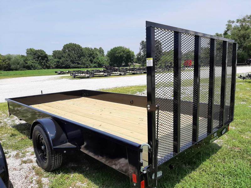 Rice 82 x 14' Bumper Pull Stealth Black Utility trailer