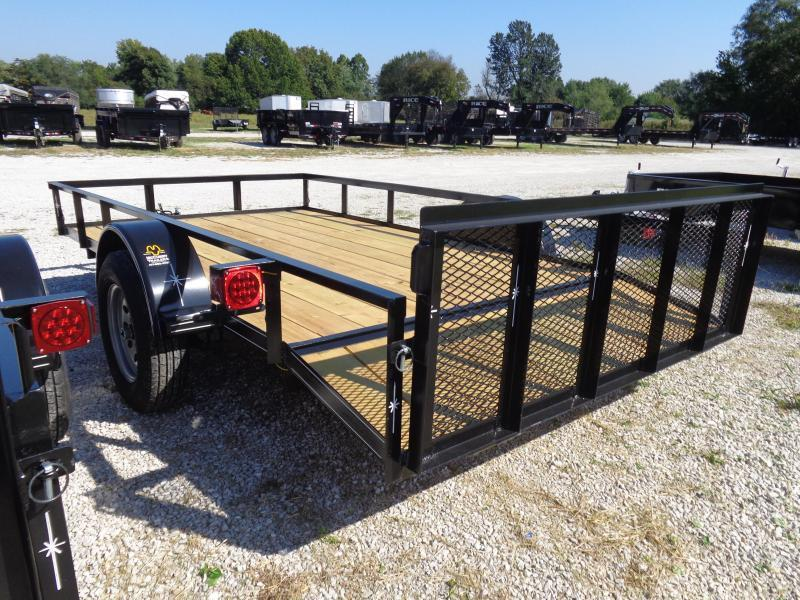 Bulldog 76 x 10'+2' Dovetail Black Utility Trailer