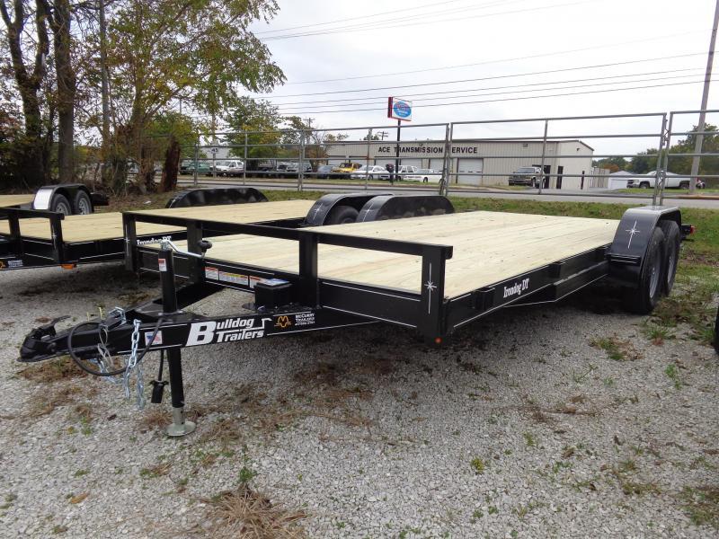 Bulldog 82 x 16' + 2' Bumper Pull Economy Car Hauler Flatbed