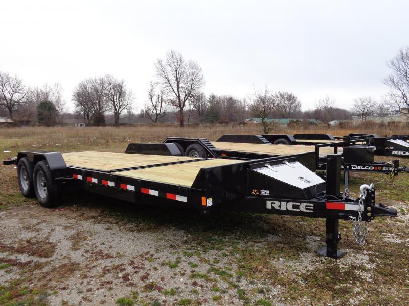 "Rice 82"" x 16'+6' Bumper Pull 14000# Partial Tilt Heavy Duty Flatbed"